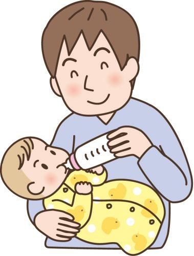 赤ちゃんの世話をするパパ