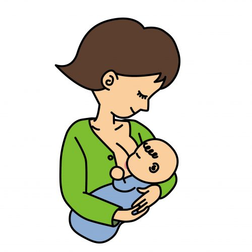 母乳をあげる