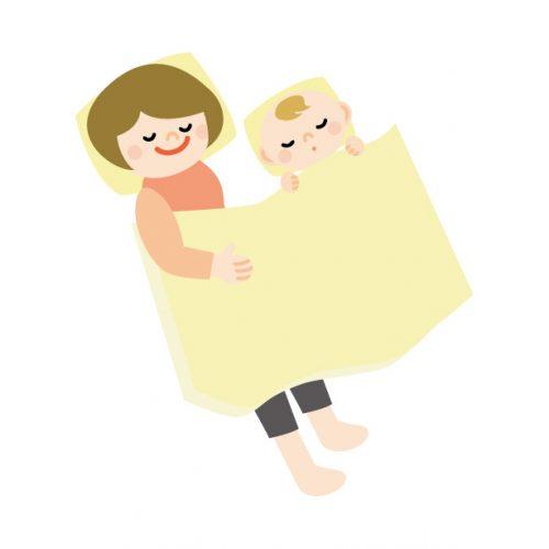 赤ちゃんと昼寝